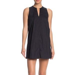 ALLSAINTS Bea Sleeveless Pleated Poplin Dress Ink